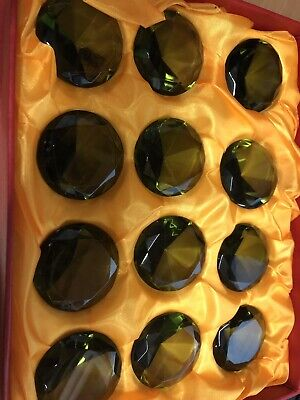 Box 12 X 50mm Crystal Diamond Shape Paperweight Glass Gem Display Gift Joblot