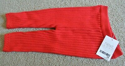 New Next baby Boys/girls warm knit leggings red up to 1 month