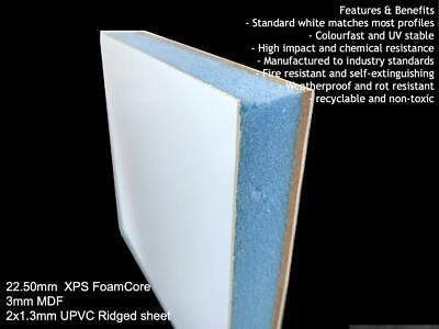 White infill panel 28mm thick 750mm x 750mm