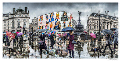 """Print A3 17/""""x12/"""" PS47 Vintage 1890/'s Photochrom Photo Piccadilly Circus London"""