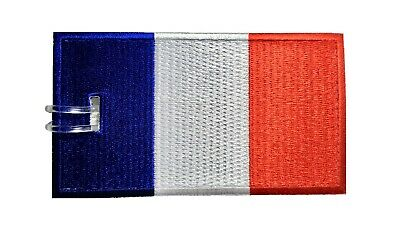 France Flag Embroidered Luggage Tag (NEVER BREAKS!)