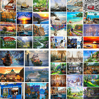 DIY Paint By Number Kit Digital Acrylic Oil Painting Art Wall Home Decor