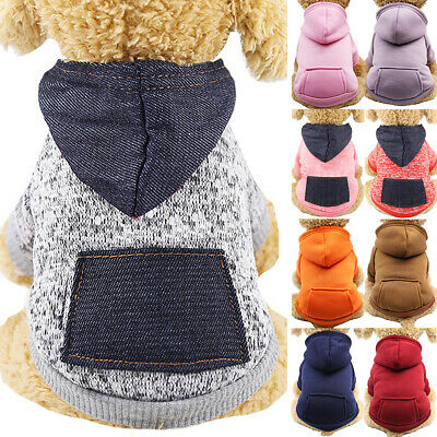 Pet Dog Hoodie Sweater Jumper Coat Warm Dogs Clothes Puppy Apparel Hoody Costume