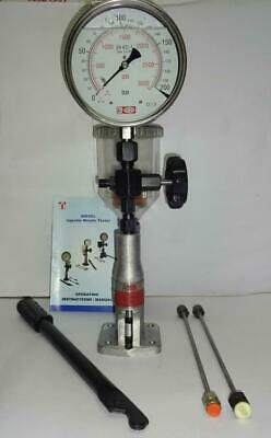 """Diesel Injector Nozzle Pop Tester - 200 Bar, SS Body, 6"""" dial, Gly. Filled Gauge"""