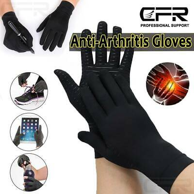 Anti Arthritis Copper Full Finger Gloves Compression Therapy Circulation Joint