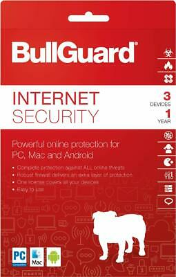 Bullguard Suite For 3 Computers 1 Yr. New Never Used. 20 Only !!