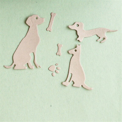 dog with bones scrapbook cutting dies metal die cuts for diy scrapbooking KQ gt