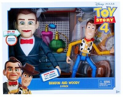 Disney Pixar Toy Story Benson And Woody 2-Pack Figures Ages 3+ Toy Doll Gift Fun