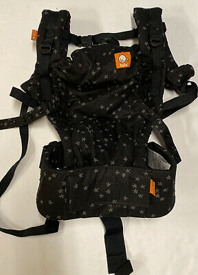 Tula Discover Free To Grow Multi-Position Baby Toddler Carrier Black with Stars