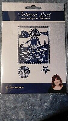 BY THE SEASIDE DIE 426980  Tattered Lace Stephanie Weightman - SHELL, GIRL BEACH