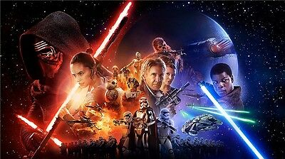 24x36 Star Wars Episode VII The Force Awakens Movie Poster v1 NEW
