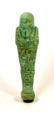 Egypt Late Period blue-green faience ushabti of Hor-pen-aset