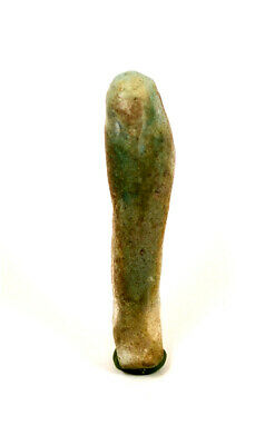 Egypt Late period -30th dynasty to ptolemaic period green faience shabti
