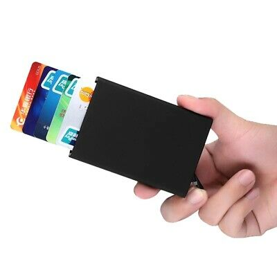 Men RFID Blocking Credit Card Holder ID Case Slim Money Travel Wallet Gift Black