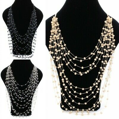 Fashion Irregular Bead Jewelry Starry Sweater Chain Long Clavicle Necklace