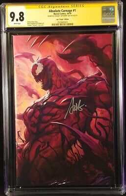 Absolute Carnage #1 Cgc Ss 9.8 Artgerm 1:500 Virgin Variant Venom Spider-Man Mj