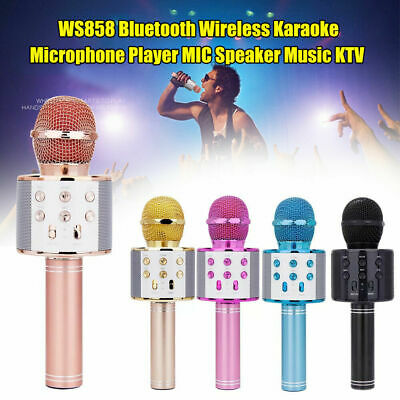 Wireless Microphone Handheld Bluetooth Speaker Karaoke Dynamic KTV Player Party
