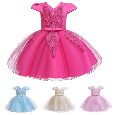Toddler Baby Princess Girl Kid Tutu Tulle Dress Party Birthday Wedding Ball Gown