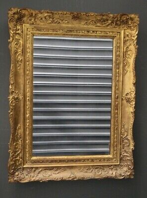 Antique French Louis XV mirror gilt carved wood frame ornate gold  19th century