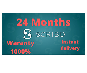 Scribd Premium Account 1 Year (12 Months) Warranty  Personnel Instant Delivery