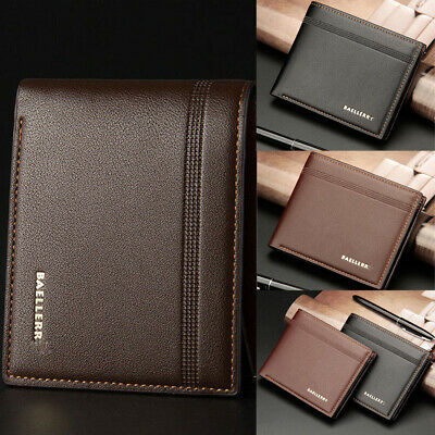 AU Stock Men's Luxury Soft Quality Leather Wallet Credit Card Holder Purse NEW