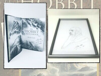 Alan Lee - The Hobbit Sketchbook + Original Drawing (Gandalf) SIGNED & Dated UK