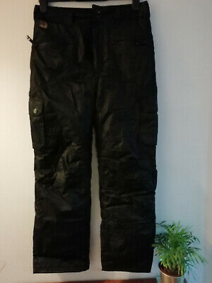 AL644) Black AIRWALK hiking/walking/riding trousers age 13yr nice 'n' warm lined