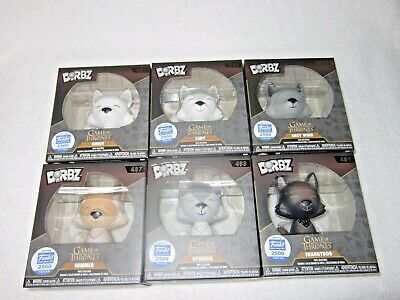 Funko Dorbz Game Of Thrones Direwolves Complete Set of 6 Limited 2500 pieces per