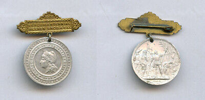 1893 Chicago World's Fair Colombian Expo MEDAL Heeren Brothers Badge Makers Pin
