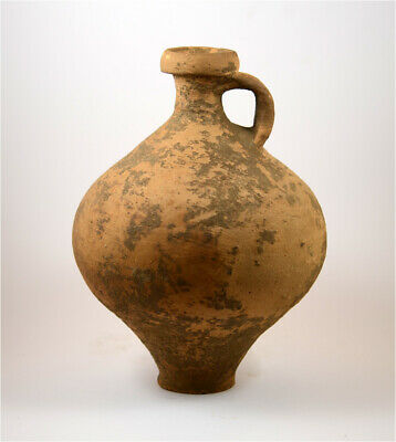 Roman a large brown pottery (clay) vessel