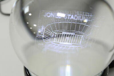 NCAA Louisiana State Tigers Tigers Stadium Etched Lit Rotating Musical Crystal Ball