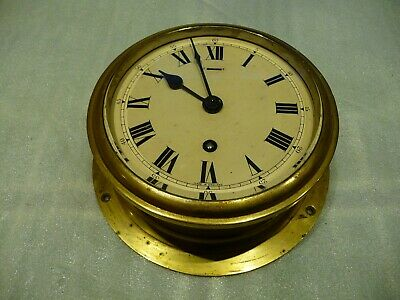 Vintage Brass Ships Clock Elliott London Beveled Glass 1952 Restoration Project