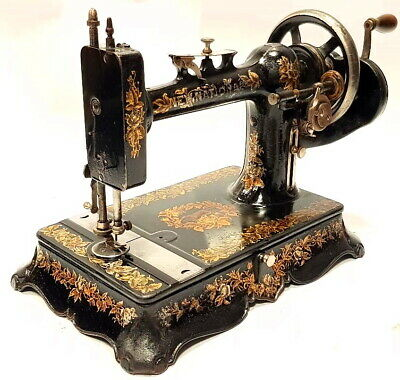 Antigua Maquina de coser NEW NATIONAL antique sewing machine 1900 USA