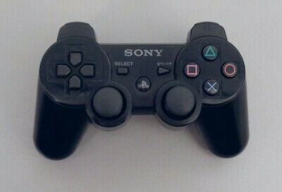 Official Sony Playstation 3 DualShock Sixaxis Bluetoth Wireless Controller Black