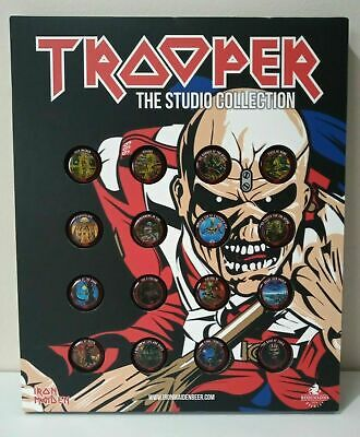 Iron Maiden Trooper Beer Bar Day Of The Dead Bottle Caps Tops 16 Collector Board