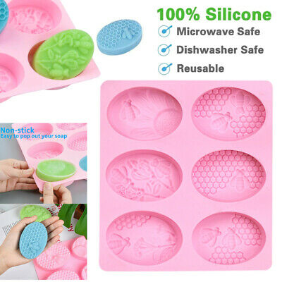 Bee Silicone Soap Mold DIY Handmade Craft 3D Making Cake Mould Tool for Home  AU