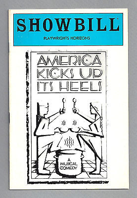 "Patti LuPone ""AMERICA KICKS UP ITS HEELS"" William Finn '83 Musical FLOP Playbill"