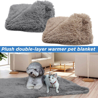 Extra Large Pet Dog Cat Soft Blanket Cosy Warm Puppy Fluffy Sleeping Bed Mat New