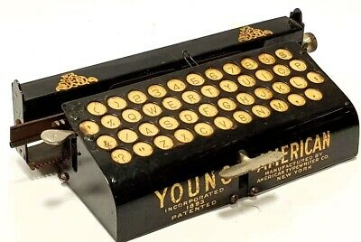 ►antigua y rara maquina escribir YOUNG AMERICAN very rare index TYPEWRITER 1891