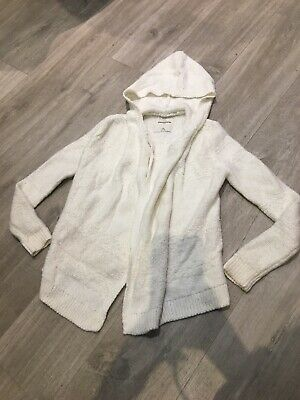 Grey Abercrombie And Fitch Soft Waterfall Cardigan Hoodie Girls 9/10