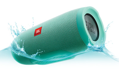 Genuine JBL Charge 3 Waterproof Portable Bluetooth Speaker - Teal