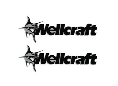 230 FISHERMAN WELLCRAFT Marlin Boat Vinyl Decals Sticker Emblem Skipper Fishing