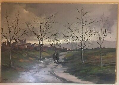 Signed Original Mario Leal Carragal Painting Oil On Canvas LISTED ARTIST
