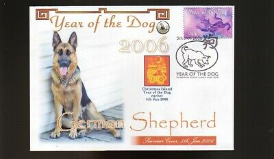 German Shepherd Dog Stamp Cover, 2006 Year Of The Dog 2
