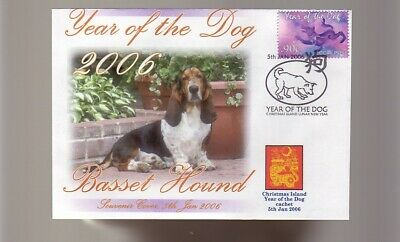 Basset Hound 2006 Year Of The Dog Stamp Cover 2