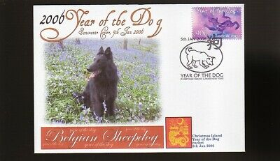 Belgian Sheepdog 2006 Year Of The Dog Stamp Cover 3