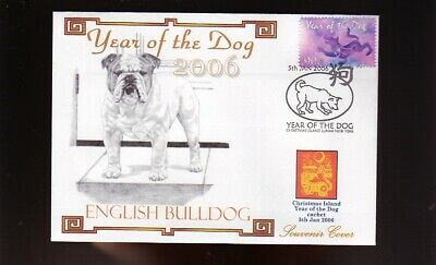 English Bulldog Cover, 2006 Year Of The Dog Stamp 3