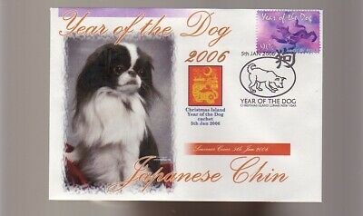 Japanese Chin Stamp Cover 2006 Year Of The Dog 1