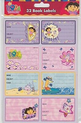 Dora The Explorer - Book Labels 32 In Pack **Brand New**