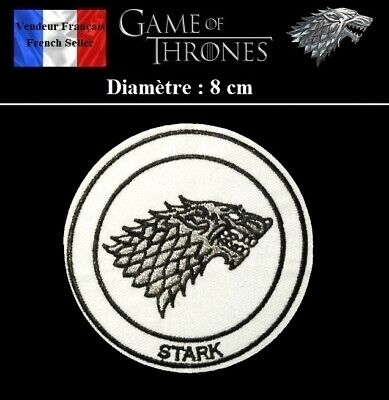 Écusson Brodé Thermocollant NEUF Patch Embroidered Game of Thrones Stark ( B )